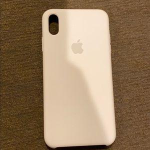iPhone X Max White Apple Soft Case